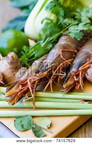Ingredients For Thai Tom Yam Soup