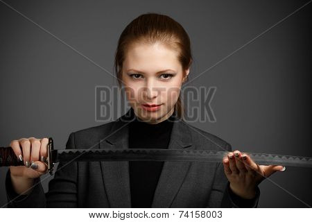 Business Woman With A Sword