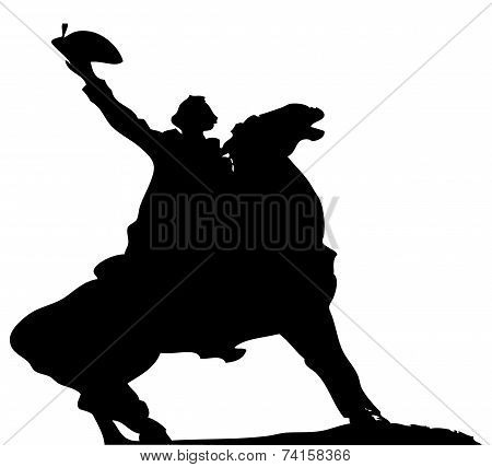 Horse Rider Vector Silhouette