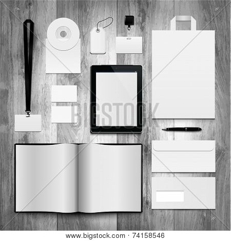 Set of corporate identity templates.
