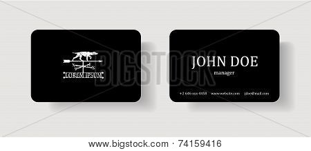 Business card template with logo.