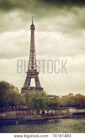 View Of Tour Eiffel From Seine River