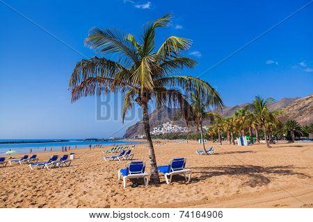Beach Teresitas in Tenerife - Canary Islands Spain