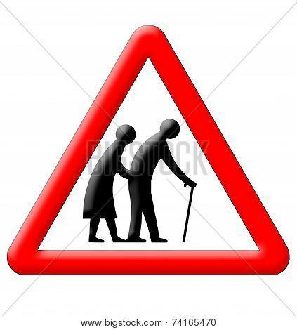 Old People Crossing Traffic Sign
