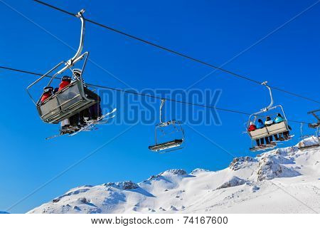 Mountains ski resort Bad Gastein Austria - nature and sport background