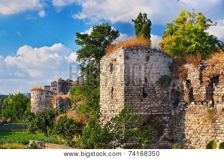 Old fortress at Istanbul Turkey - architecture background