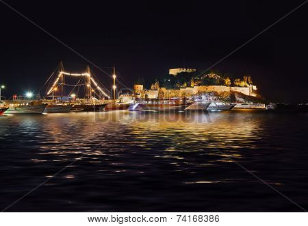 Fortress at Kusadasi Turkey - architecturel background