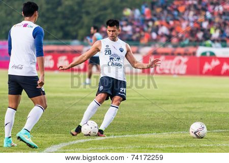 Sisaket Thailand-october 15: Javier Patino Of Buriram Utd. In Action During A Training Ahead Thai Pr