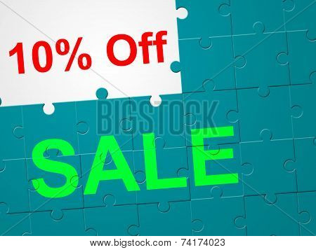 Ten Percent Off Means Promotion Retail And Promotional