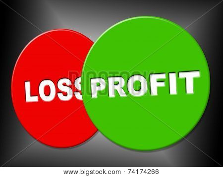 Profit Sign Shows Earn Earnings And Advertisement