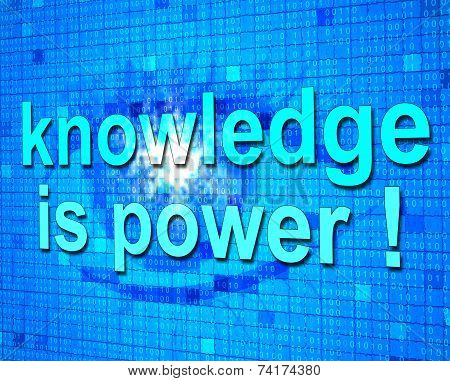 Knowledge Is Power Shows Learned Educating And Learn