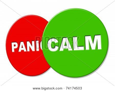 Calm Sign Shows Break Peace And Relaxed