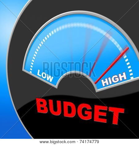 High Budget Means Accountant Financial And Savings