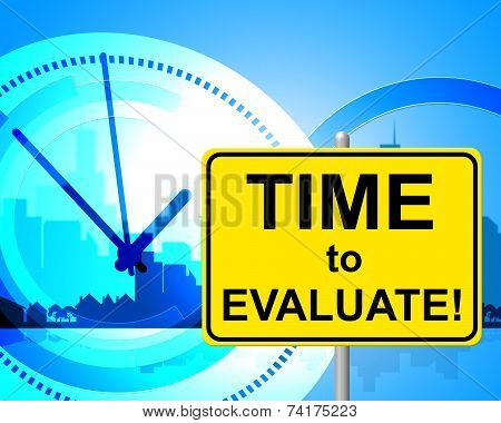 Time To Evaluate Indicates Right Now And Assessment