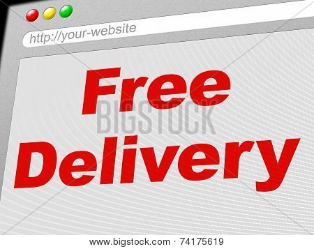 Free Delivery Means With Our Compliments And Complimentary