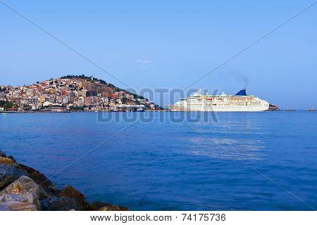 Morning view of Kusadasi Turkey - travel background