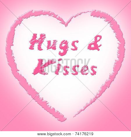 Hugs And Kisses Represents Find Love And Dating
