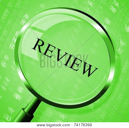 Review Magnifier Indicates Evaluate Appraisal And Assessing