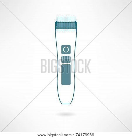 Hair trimmer and styler in flat design. Vector
