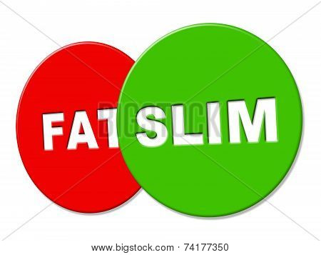 Slim Sign Represents Lose Weight And Advertisement