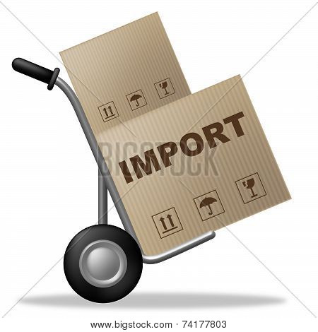 Import Package Represents Shipping Box And Cardboard
