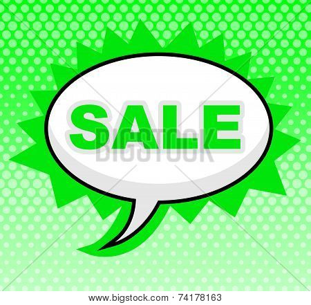 Sale Sign Represents Savings Merchandise And Offer