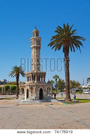 Historical Clock Tower of IzmirTurkey - symbol of Izmir city