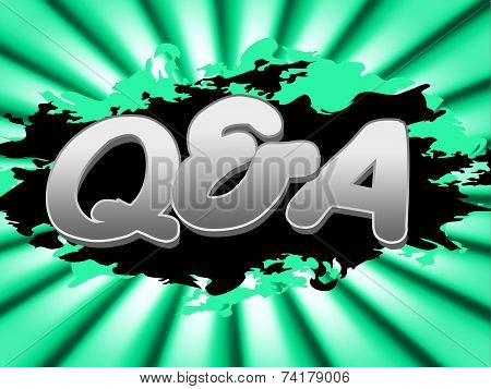 Q And A Indicates Frequently Asked Questions And Knowhow