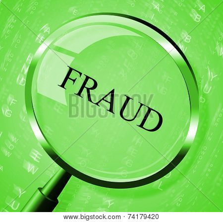 Fraud Magnifier Represents Rip Off And Con