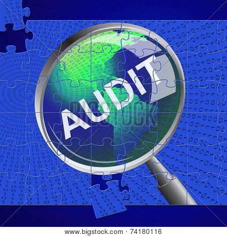 Audit Magnifier Means Auditor Searches And Magnify