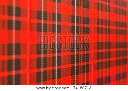 Wall with scottish checked pattern - dedign background