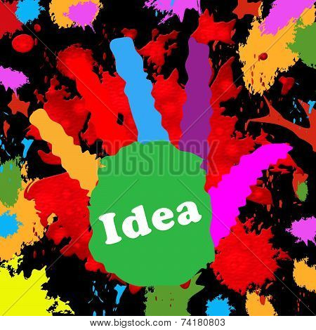 Kids Ideas Means Innovations Hand And Colour