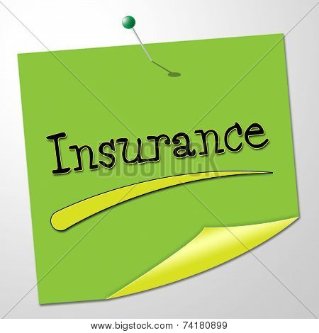 Insurance Message Represents Send Communication And Financial
