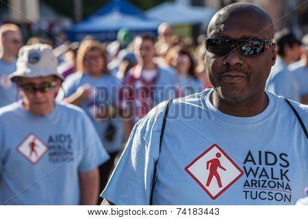 Man At Aidswalk
