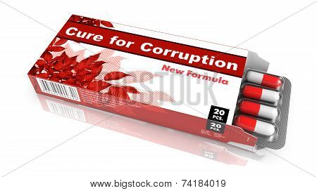 Cure for Corruption - Blister Pack Tablets.