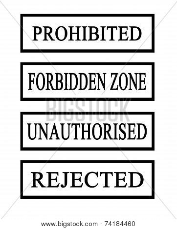 Four Prohibited Stamps