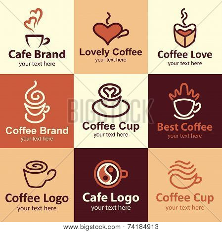 Coffee Icons Vector Set