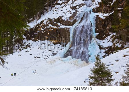 Waterfall Krimml at Tirol Austria - nature and travel background