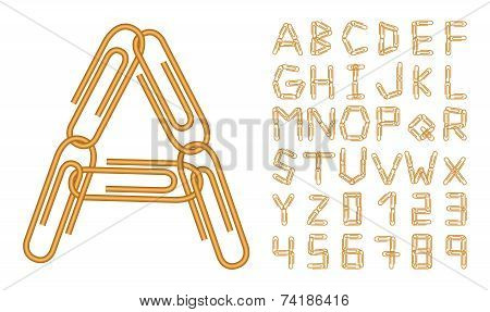 Letters And Numbers Orange Clips