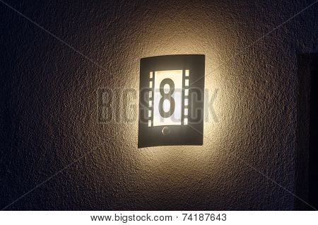 Illuminated House Number, Outdoor Lamp