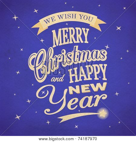 Merry Christmas typographic background