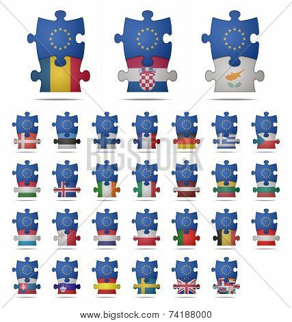 Puzzle Pieces Europe