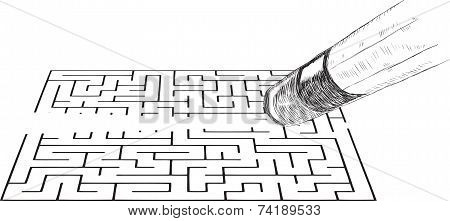 Eraser Erases The Image Of The Labyrinth