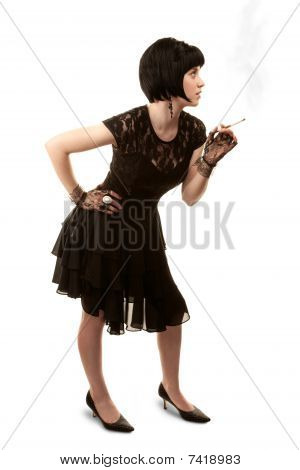 Retro Woman With Black Hair