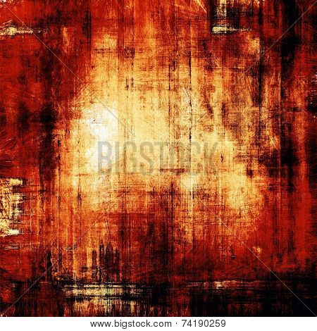 Old vintage background. With yellow, brown, red, orange patterns