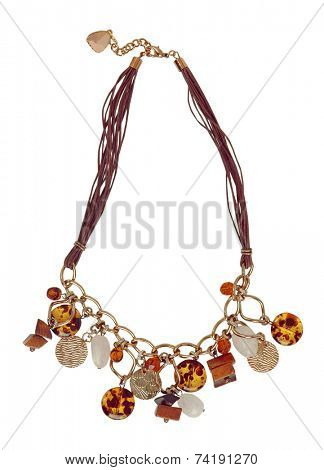 fashion necklace isolated on white background