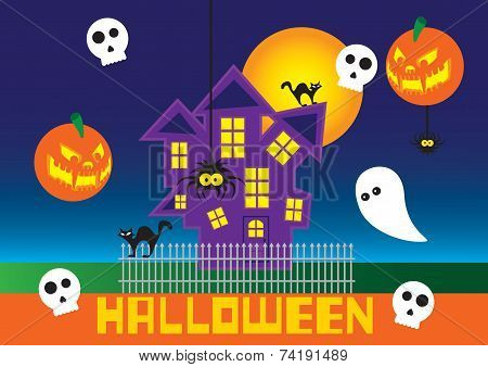 Halloween poster card images