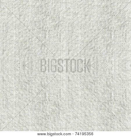 Grey cotton canvas texture Seamless vector background