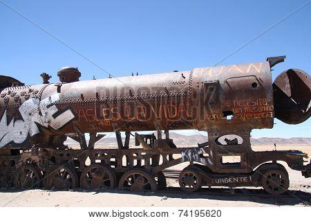 Old train in Uyuni, Bolivia