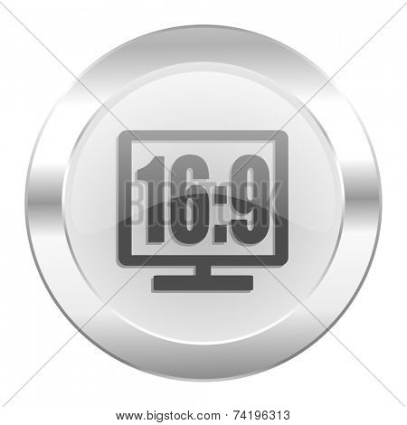 16 9 display chrome web icon isolated